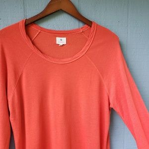 Sundry Size 3 Solid Orange Long Sleeve Top Soft